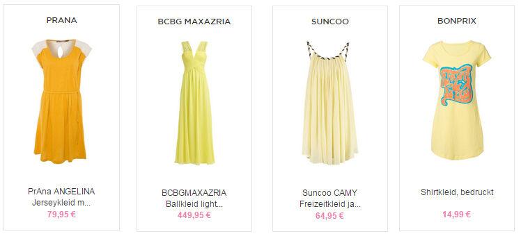 Gelbe Kleider kaufen