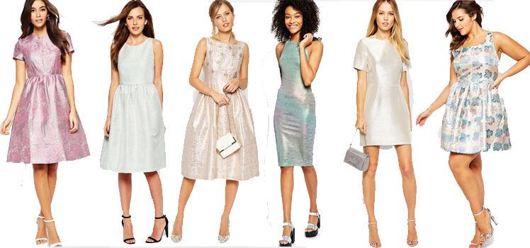 Metallic-Look kleider Pastellfarben