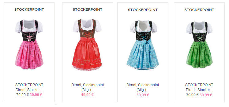 Stockerpoint Dirndl billig