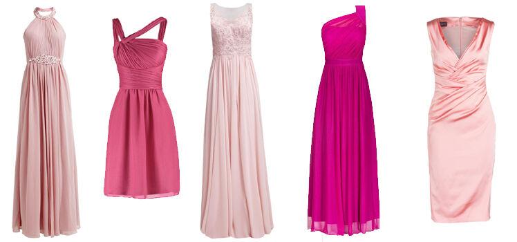 Rosa-Abendkleider