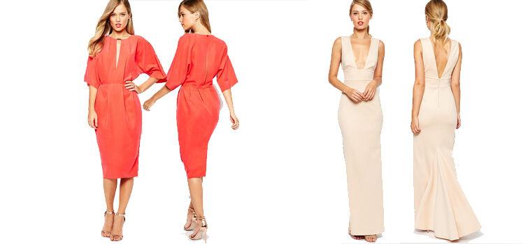 Kleider mit tiefem Ausschnitt und Rückenausschnitt
