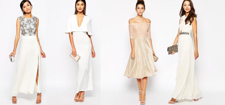 Weiße Abendkleider