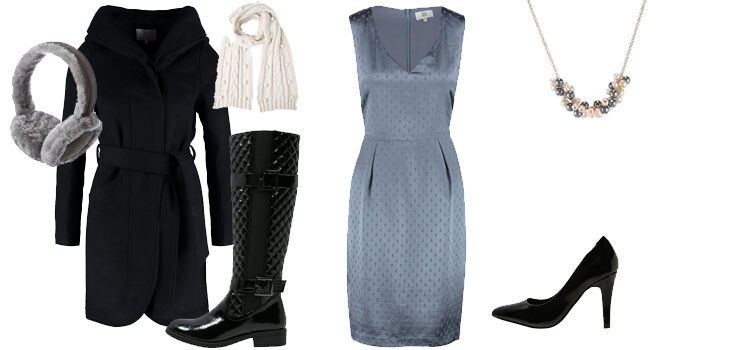 Kleid bei kalten Temperaturen kombinieren