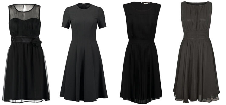 Klassische schwarze Konfirmationskleider