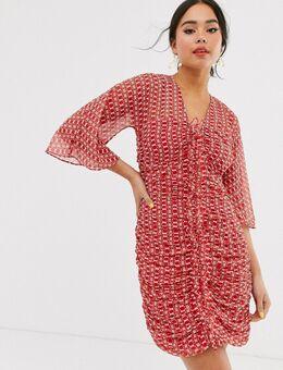 – Sunny Afternoon – Gerafftes Minikleid-Rot
