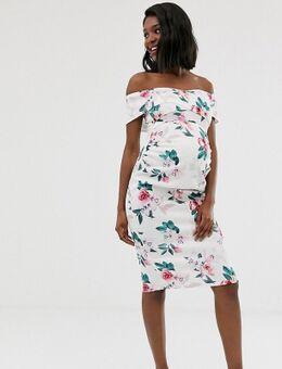 – Figurbetontes Kleid mit überkreuztem Design-Mehrfarbig