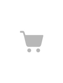 Tweed dress with fluted hem and pearl effect buttons-Schwarz