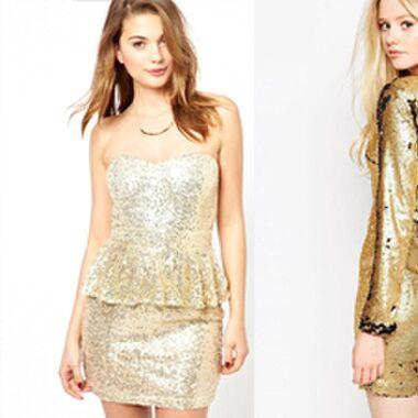 Für den großen Auftritt: Goldene Kleider