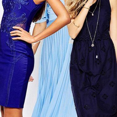 Styleguide Kombinieren: Welche Schuhe passen zum blauen Kleid?